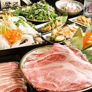 各種鍋料理の宴会コースは3500円~5000円◎