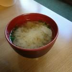 ソースかつ丼 我山 - 味噌汁