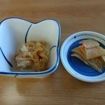 ソースかつ丼 我山 - 小鉢・お新香