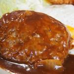 淀ヤ食堂 - ハンバーグと海老フライの定食(ハンバーグ)