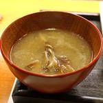 ねぎま - 牡蠣と山芋のすり流し