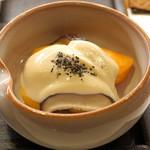 ねぎま - 柿と椎茸の白和え