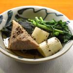 ねぎま - ねぎま鍋 その一  カマトロ、クレソン、葱、若布