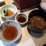 961024 - 千よ福御膳・味噌汁、漬物