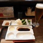 串揚げ 串の実 - お通し 生野菜