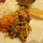 ポンガラカレー - 副菜3種