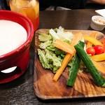 96107291 - 産直野菜の彩りバーニャカウダ