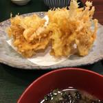 近江町食堂 - 白えびかき揚げ