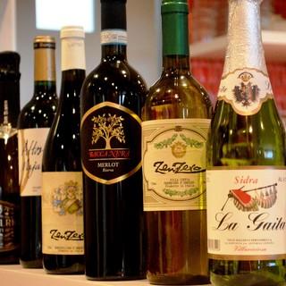 ワイン各種、ビール各種&ハイボール各種&カクテルなど豊富♪