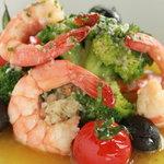 hus - 海老とブロッコリーとプチトマトのオイル煮 カラブリア風