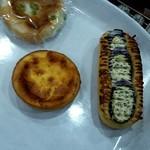 パン ド グランディール - 枝豆めんたいチーズ、チーズケーキタルト、にくミソなす