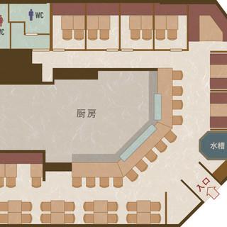 さまざまなシーンで利用できる空間☆個室宴会は18名までOK!