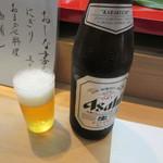 すし処美旨 - 瓶ビール 金額不明