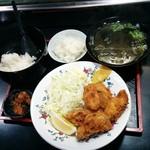 めし処 通 - 大粒かきフライめしセット(970円)