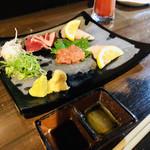 魚やん鶏 - 胡麻油と醤油