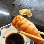 寿司割烹 海王 - エビです