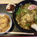 茶そば 長寿庵 - 料理写真:「ミニカツ丼セット(たぬき蕎麦付き)」980円(税込)