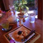 茶のこ - 白玉団子と水出し緑茶のセット