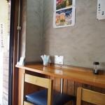 長谷川 - 店内(壁側のカウンター席)