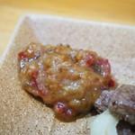 長谷川 - キモ焼(自家製甘辛みそ)