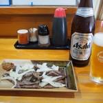長谷川 - キモ焼 & ビール