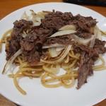 長谷川 - 焼そば定食(焼そば:具だくさんVer)