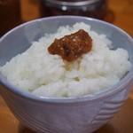 長谷川 - 焼そば定食(ご飯に甘辛みそを乗せて食べる)