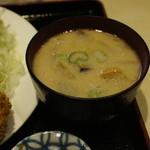 にし邑 - デフォルトの酒粕入り豚汁