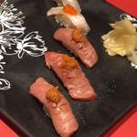 創作Dining Sushi きくち - 料理写真:牛炙り握り&えんがわ