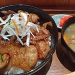 jou - 炙り豚丼大盛と小豚汁