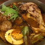 spice&cafe SidMid - 鶏レッグ (*´ω`*) スープカレー 4辛 鶏さんホロっと