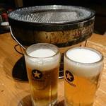 焼肉たんか - 飲み放題のビール
