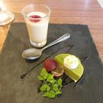 96149471 - Dolce(デザート)~ほうじ茶のパンナコッタ・抹茶のムース