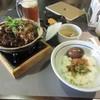 翰林茶館 - 料理写真:お茶をいただいてると注文した干しタケノコと豚バラ肉の煮込みご飯390台湾ドルの出来上がりです。