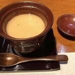 旬味食彩 佳乃 - 牡蠣とゆり根茶碗蒸し