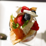 パティスリィ ドゥ・ボン・クーフゥ - 11月限定ゴルゴンゾーラとキャラメルリンゴのパルフェ