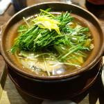 仁王門 うね乃 - 秋鮭と水菜のはりはり鍋