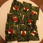 味登 - チャンジャとクリームチーズ~韓国海苔添え♬︎