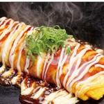 鉄板ダイニング やきやきや - 出汁巻き玉子 (明太チーズ・納豆)