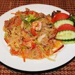 タイ料理亜路居亭 - 春雨とエビ、豚肉のサラダ゙ ヤム・ウンセン