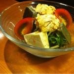 くさび - 生麩豆腐湯葉のサラダ。