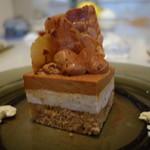 Sghr cafe - バナナと胡桃のキャラメルチョコケーキ