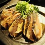 酒肴菜や 利一 - メバチマグロの塩タタキ