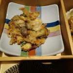 料理家 仄り - 鱧と桜海老のかき揚げ