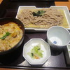 かごの屋 - 料理写真:小ぶり炙り鶏の親子丼と選べる麺セットでざるそば