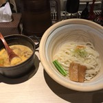 96166080 - もつカレーつけ麺(〆ご飯付き) 950円(税込)