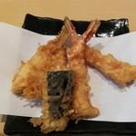 96176019 - 上天ぷら定食かき揚げ付きの海老2本、きす、なす