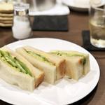 カフェ&バー 琥珀 - ハムトースト500円('18.11月上旬)