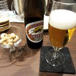 カフェ&バー 琥珀 - 瓶ビール500円('18.11月上旬)