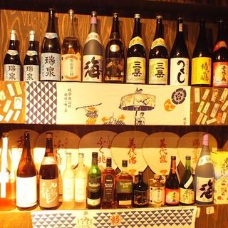 焼酎/日本酒取り揃えています!